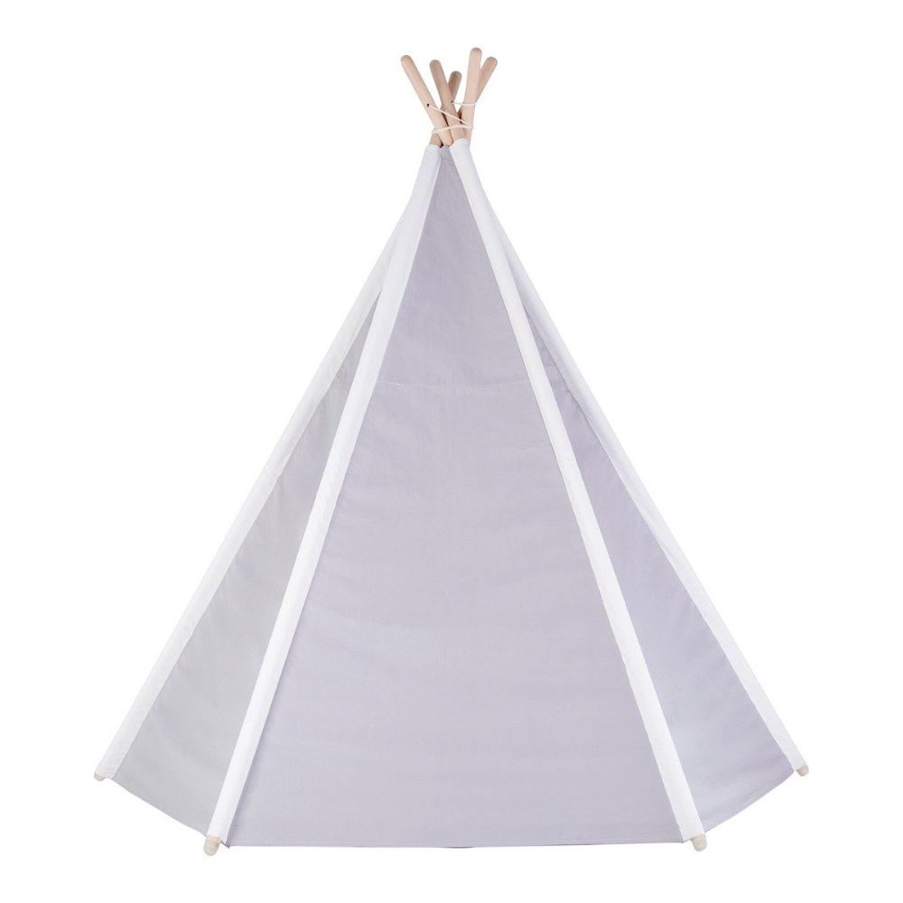 Alternate Image #4 of Easy View Foldable Gray and White Canvas Tent
