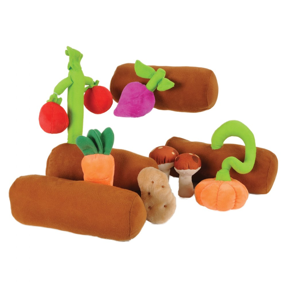 Alternate Image #1 of Veggie Garden With Soft Colorful Plush Vegetables