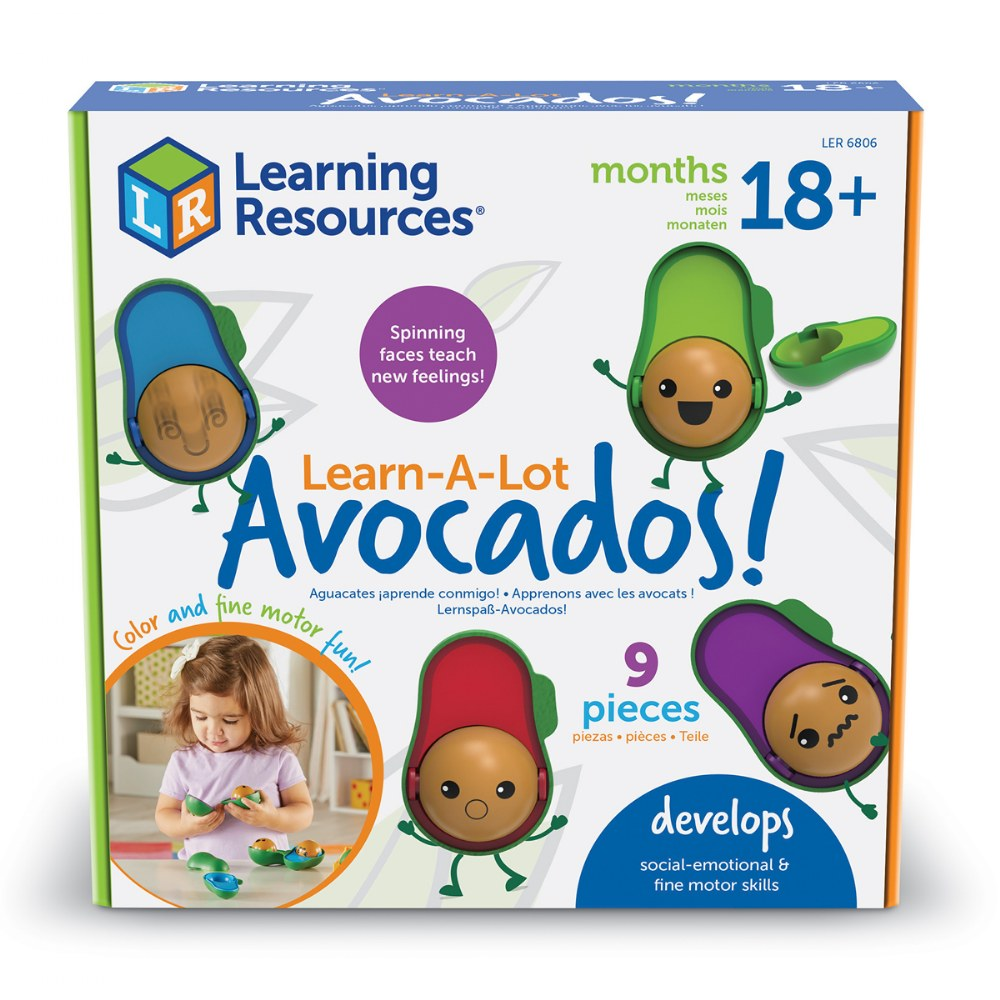 Alternate Image #10 of Learn-A-Lot Emoji Avocados - Social Emotional, Color Identification and Matching Skills