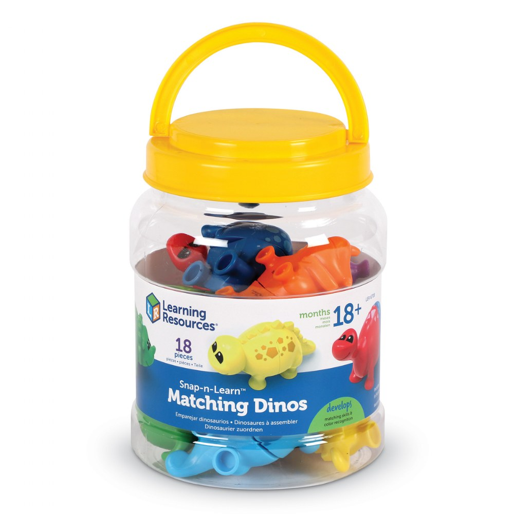 Alternate Image #4 of Snap-n-Learn™ Matching Dinos - Fine Motor and Sorting Toy
