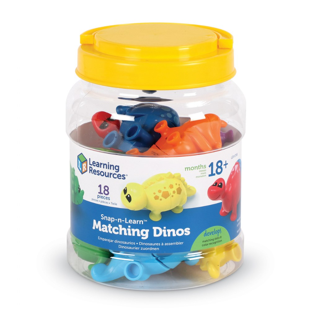 Alternate Image #5 of Snap-n-Learn™ Matching Dinos - Fine Motor and Sorting Toy