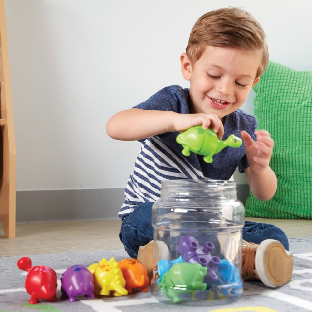 Alternate Image #3 of Snap-n-Learn™ Matching Dinos - Fine Motor and Sorting Toy