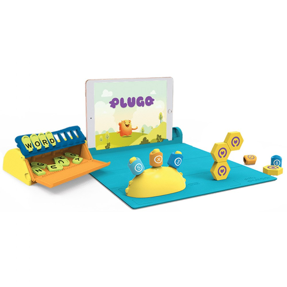 Shifu Plugo Interactive Children's STEM Wiz Pack with Math, Letters and Spelling