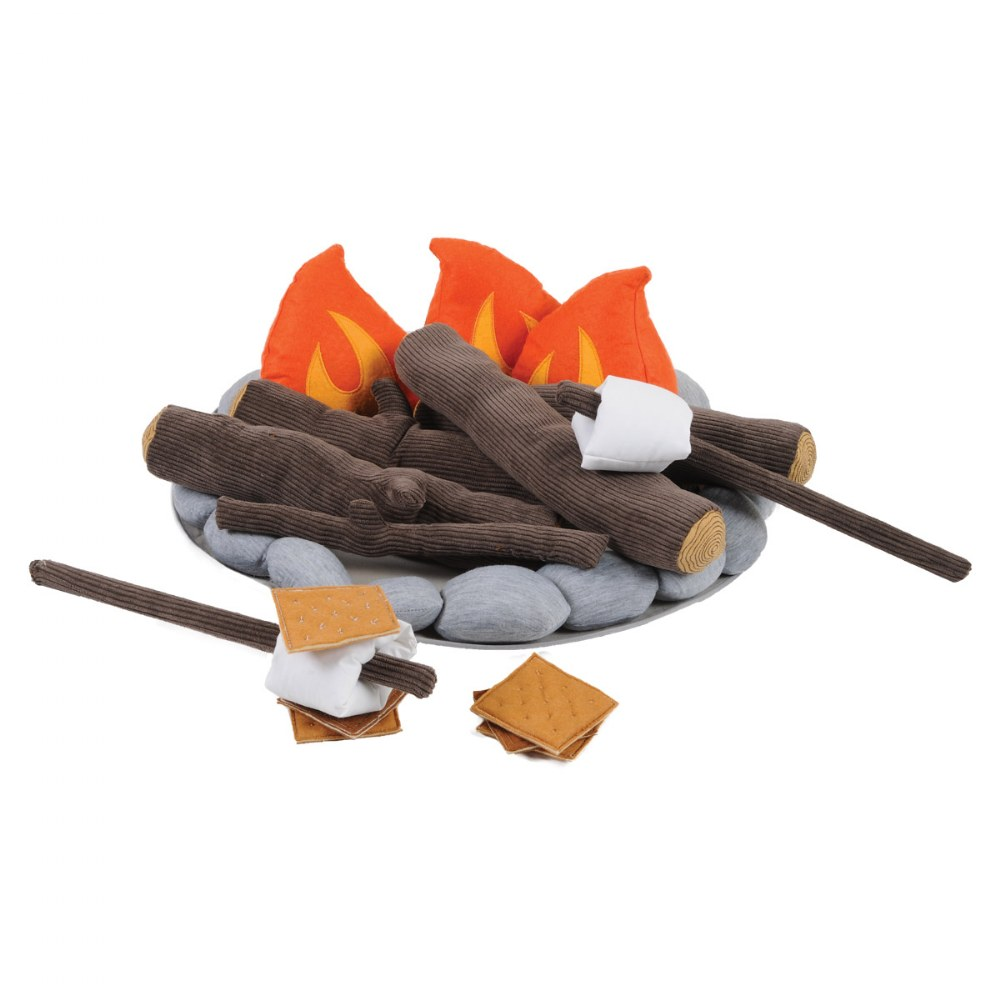 Campout Campfire and S'Mores Soft Toy Camp Set