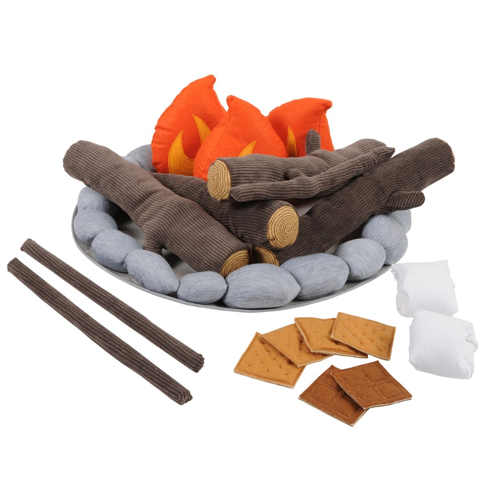 Alternate Image #1 of Campout Campfire and S'Mores Soft Toy Camp Set