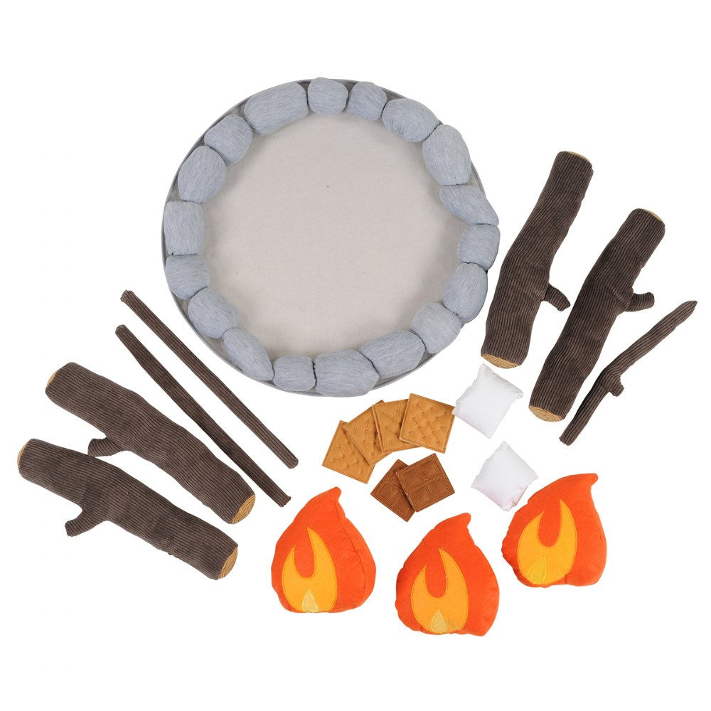 Alternate Image #2 of Campout Campfire and S'Mores Soft Toy Camp Set