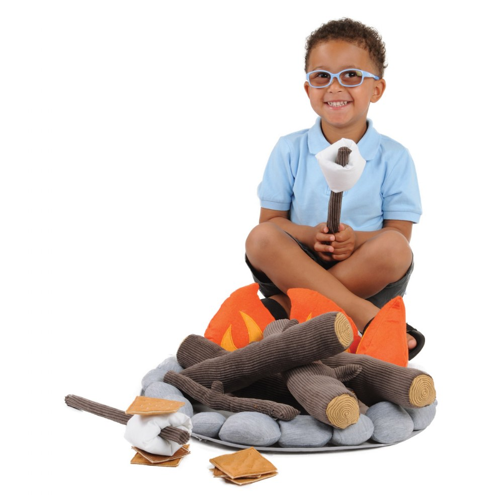 Alternate Image #3 of Campout Campfire and S'Mores Soft Toy Camp Set