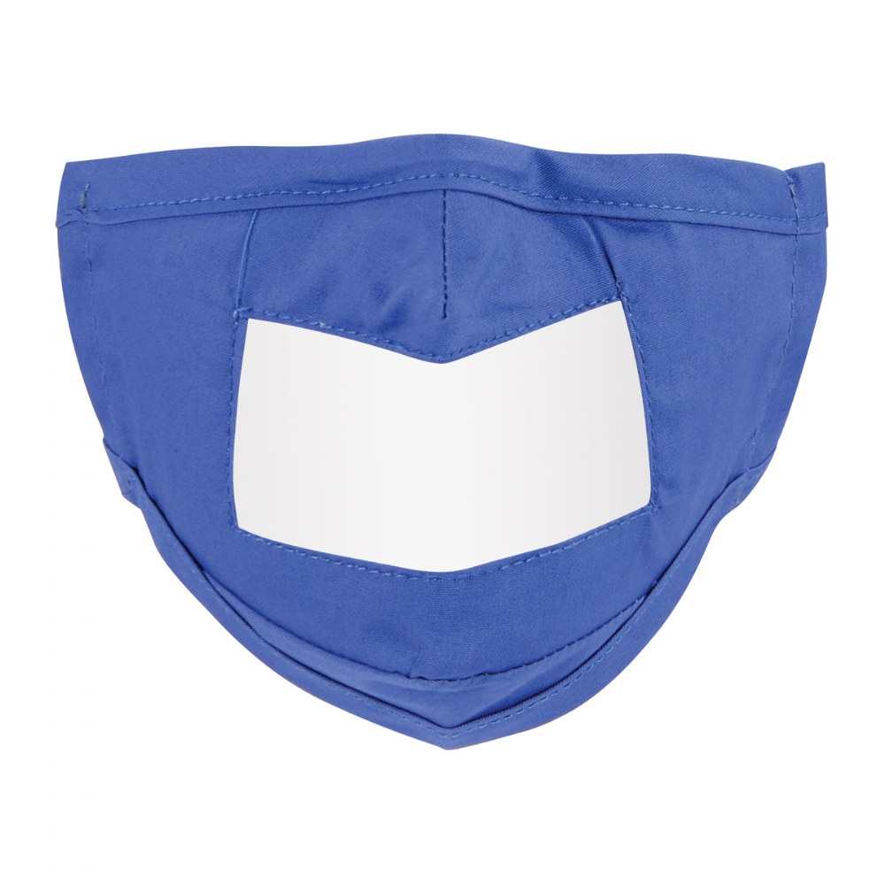 Alternate Image #1 of Clear Child Face Mask - Set of 5 Blue Masks