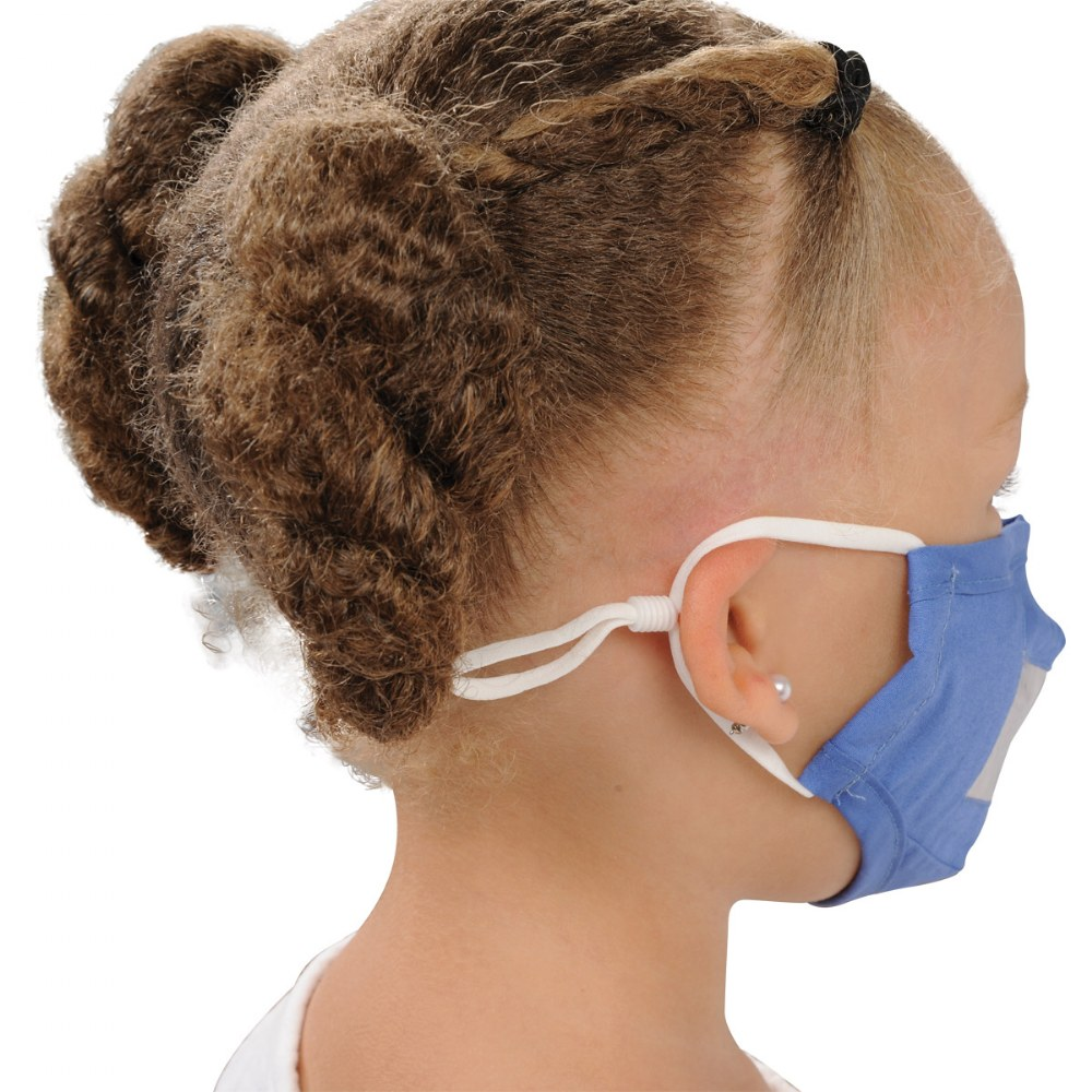 Alternate Image #5 of Clear Child Face Mask - Set of 5 Blue Masks