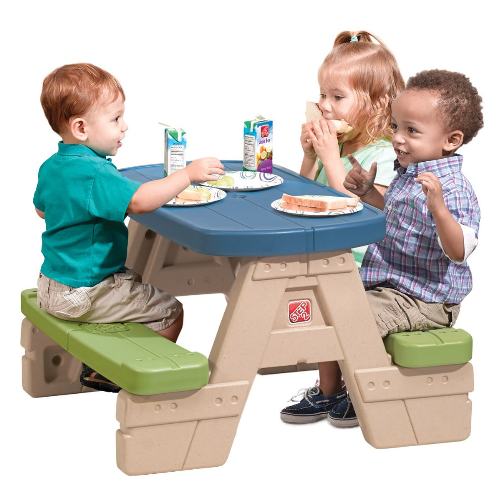 Alternate Image #1 of Sit 'N Play Picnic Table with Umbrella