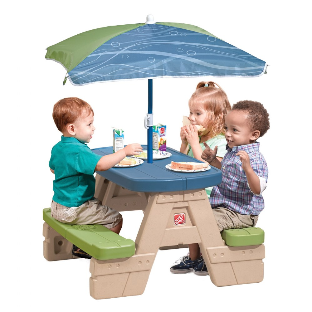 Alternate Image #2 of Sit 'N Play Picnic Table with Umbrella