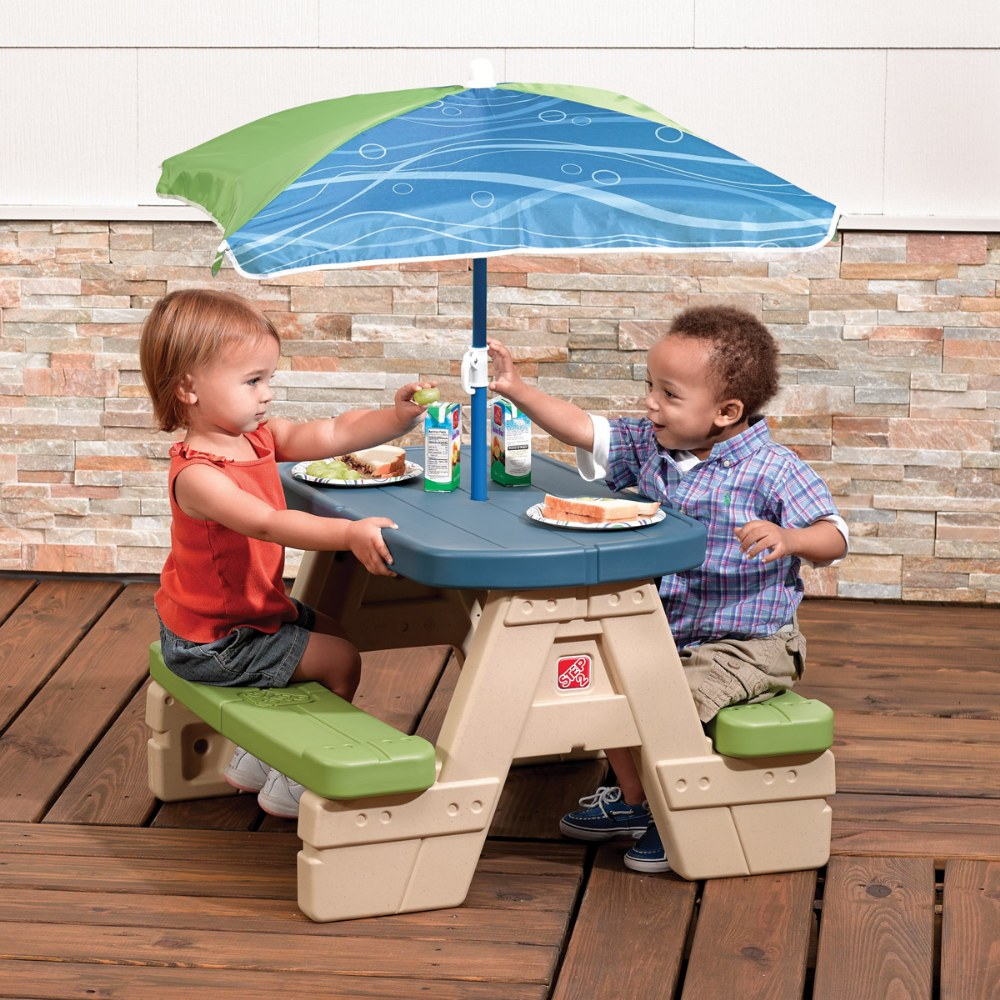 Alternate Image #3 of Sit 'N Play Picnic Table with Umbrella