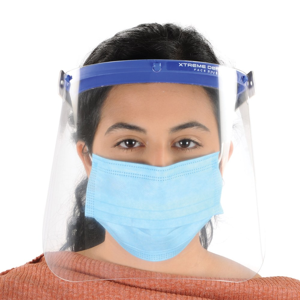 Alternate Image #1 of Reusable Adult-Sized Face Shield - Set of 5