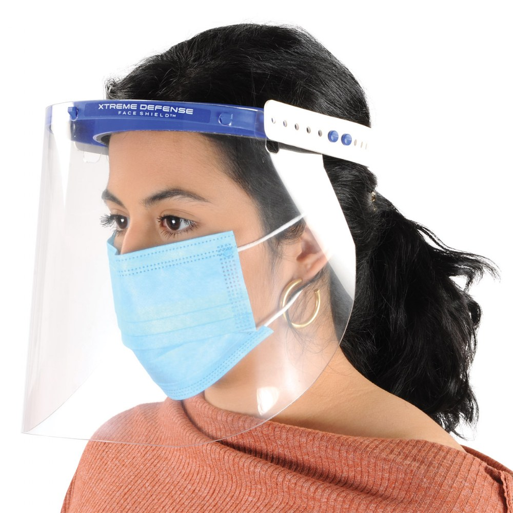 Alternate Image #2 of Reusable Adult-Sized Face Shield - Set of 5