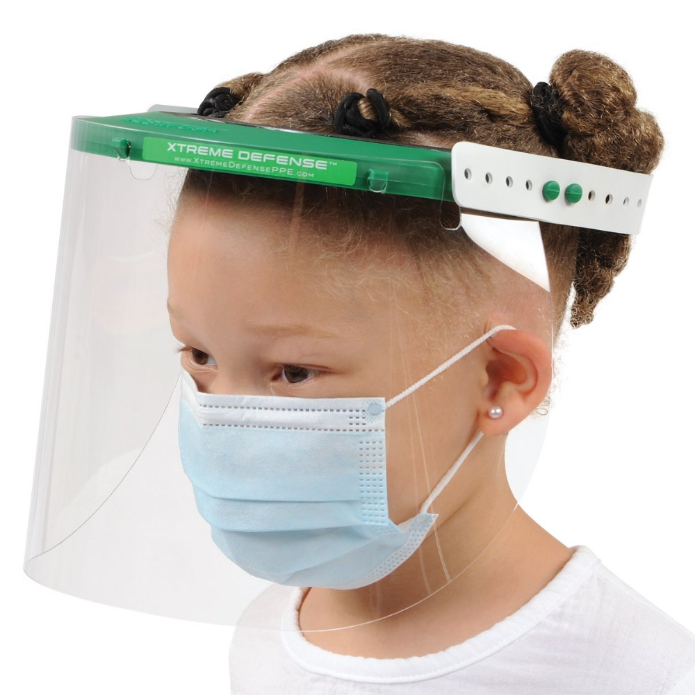 Alternate Image #1 of Reusable Child-Sized Face Shield - Set of 5