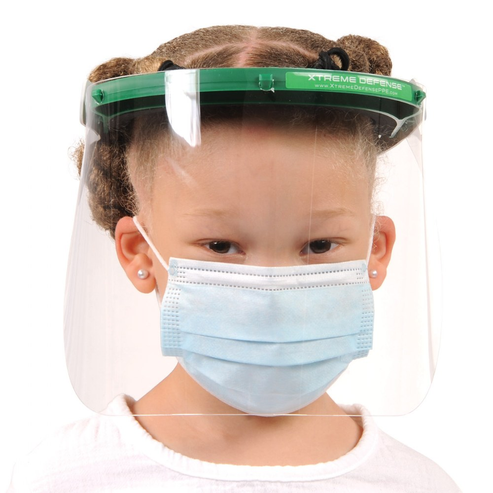 Alternate Image #2 of Reusable Child-Sized Face Shield - Set of 5