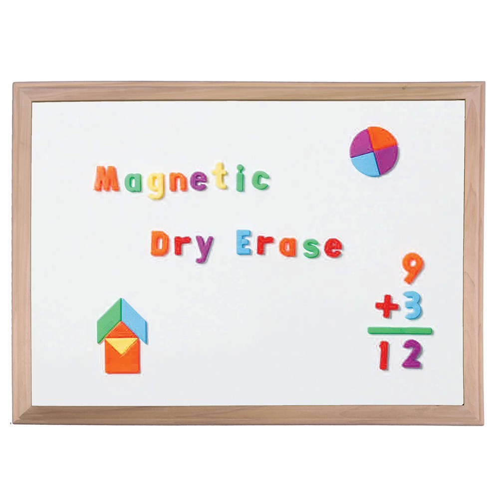 Alternate Image #1 of Wood Framed Magnetic Dry Erase Board