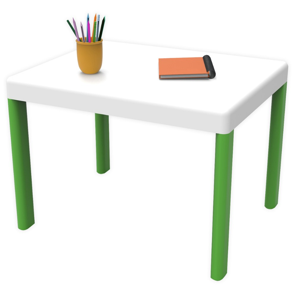 Alternate Image #1 of Ergos Green Table with 4 Chairs