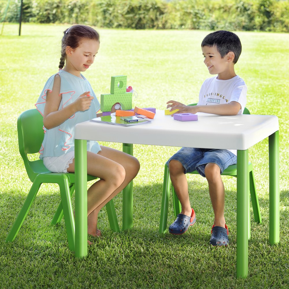 Alternate Image #2 of Ergos Green Table with 4 Chairs