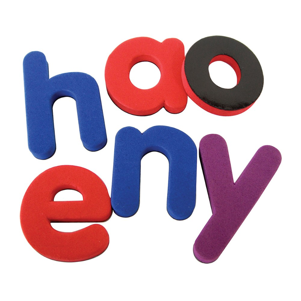 Magnetic Foam Lowercase Letters - Set of 52