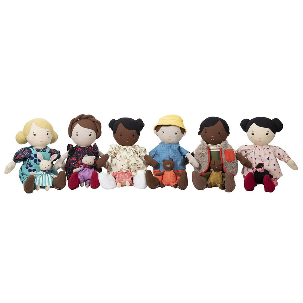 "Alternate Image #21 of Cuddly Playdate Friends Washable 14"" Soft Dolls"