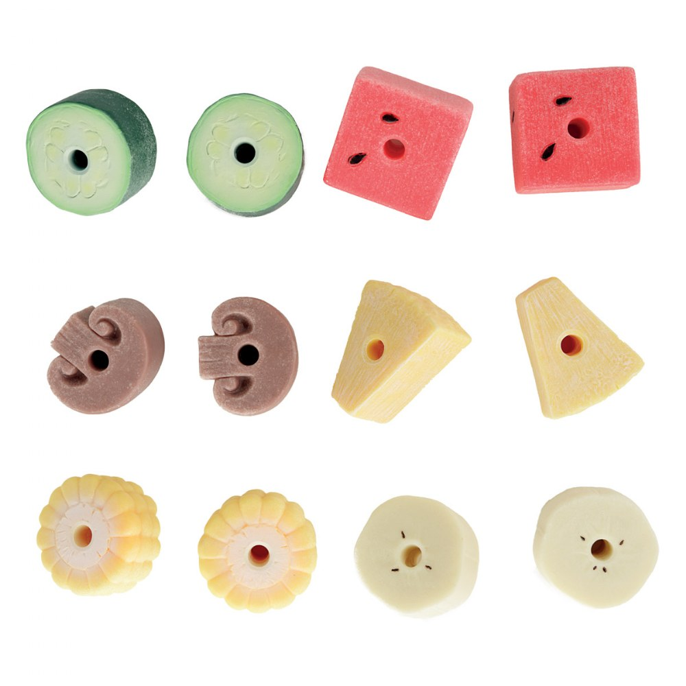 Alternate Image #1 of Sensory Play Stones: Threading Kebabs - Set of 12