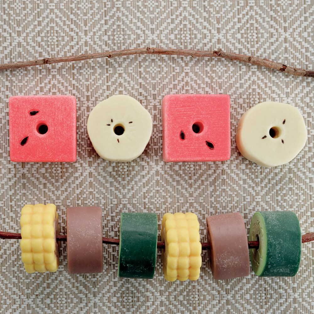 Alternate Image #7 of Sensory Play Stones: Threading Kebabs - Set of 12