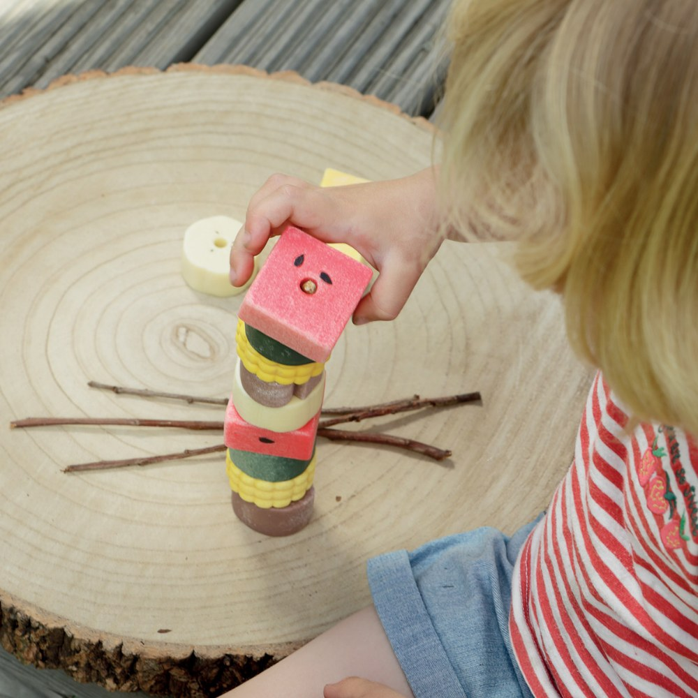 Alternate Image #6 of Sensory Play Stones: Threading Kebabs - Set of 12
