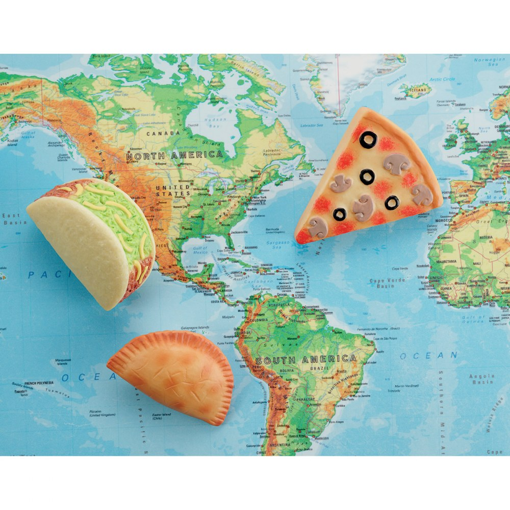 Alternate Image #4 of Sensory Play Stones: Foods of The World - Set of 8