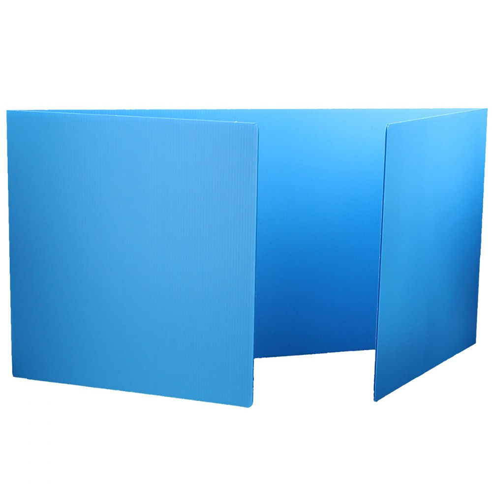Premium Corrugated Plastic Study Carrels - Set of 12