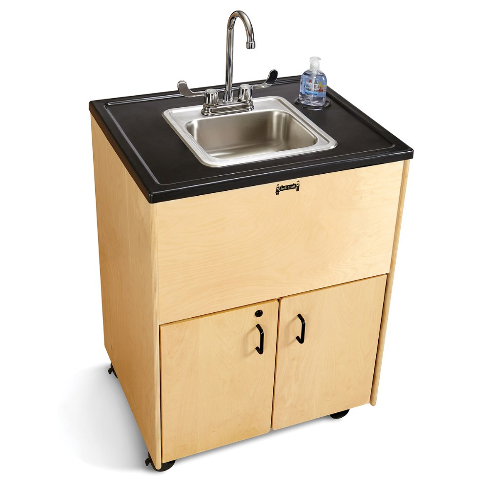 "Alternate Image #1 of Clean Hands Helper Portable Sink - 38"" Counter"