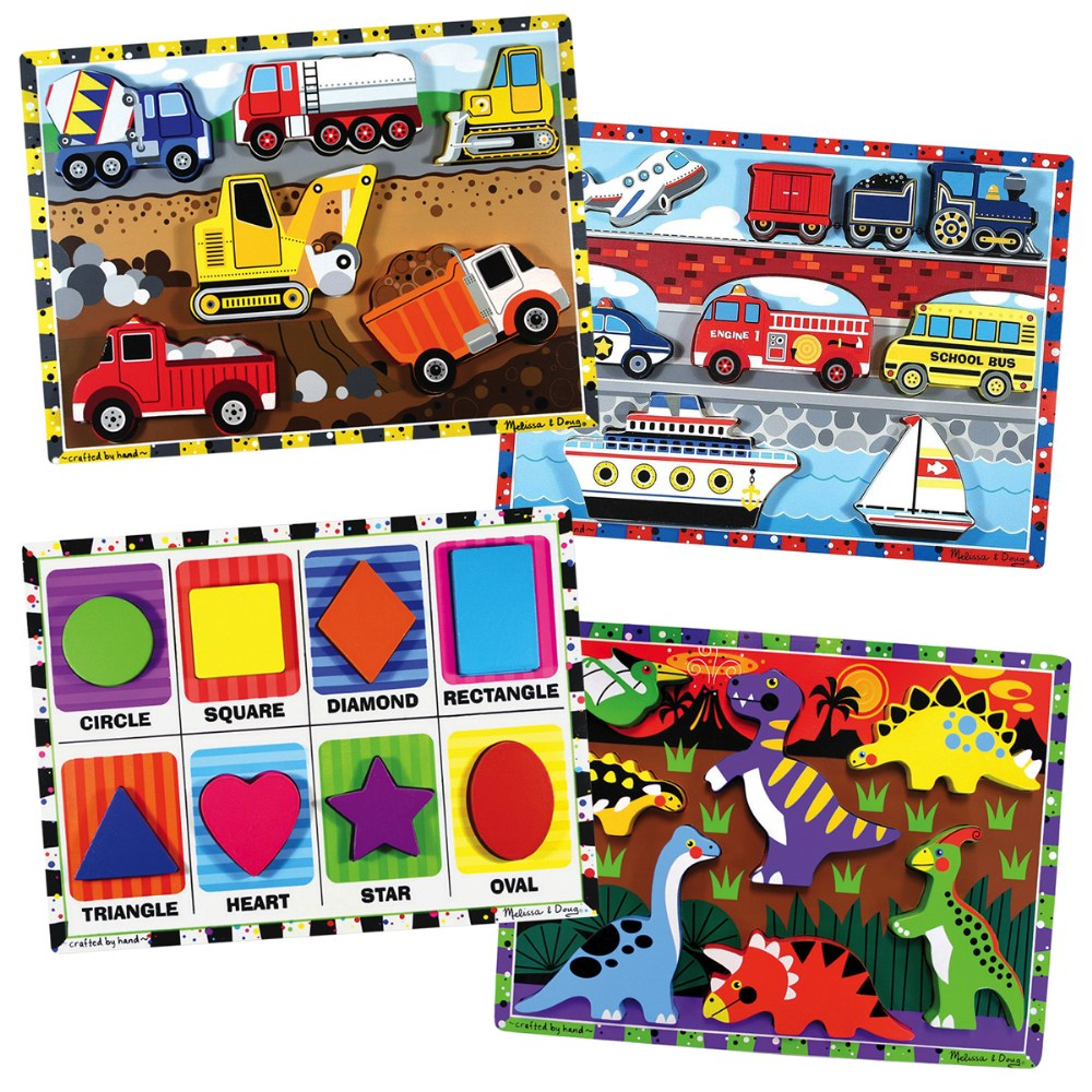 Chunky Puzzle Set 2 - Set of 4 Puzzles