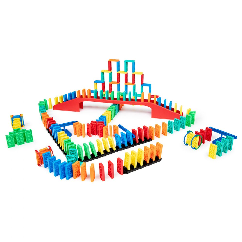 Kinetic Domino Toppling Kit - 204 Pieces