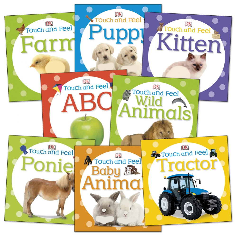 Touch and Feel Board Books - Set of 8