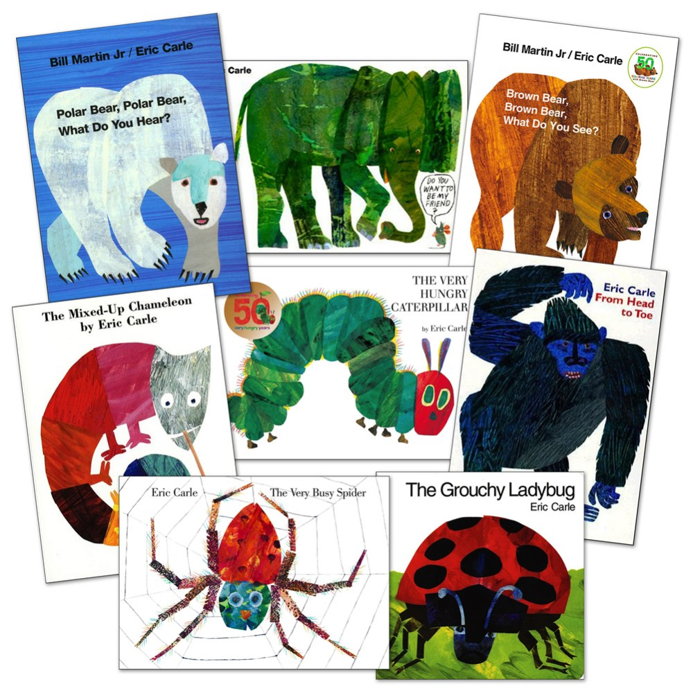 Eric Carle Board Books - Set of 8