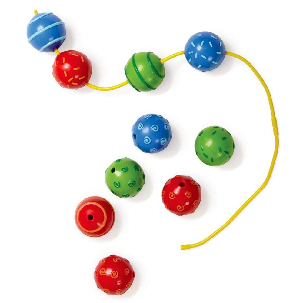 Alternate Image #1 of Sensory Texured Colorful Baby Beads