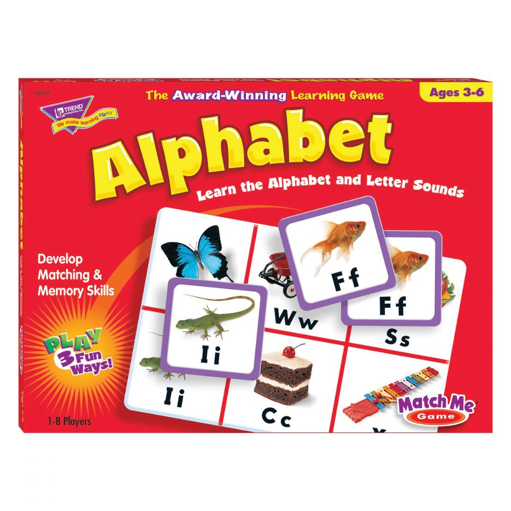 Alternate Image #6 of Match Me Game Set - Alphabet & Color and Shapes