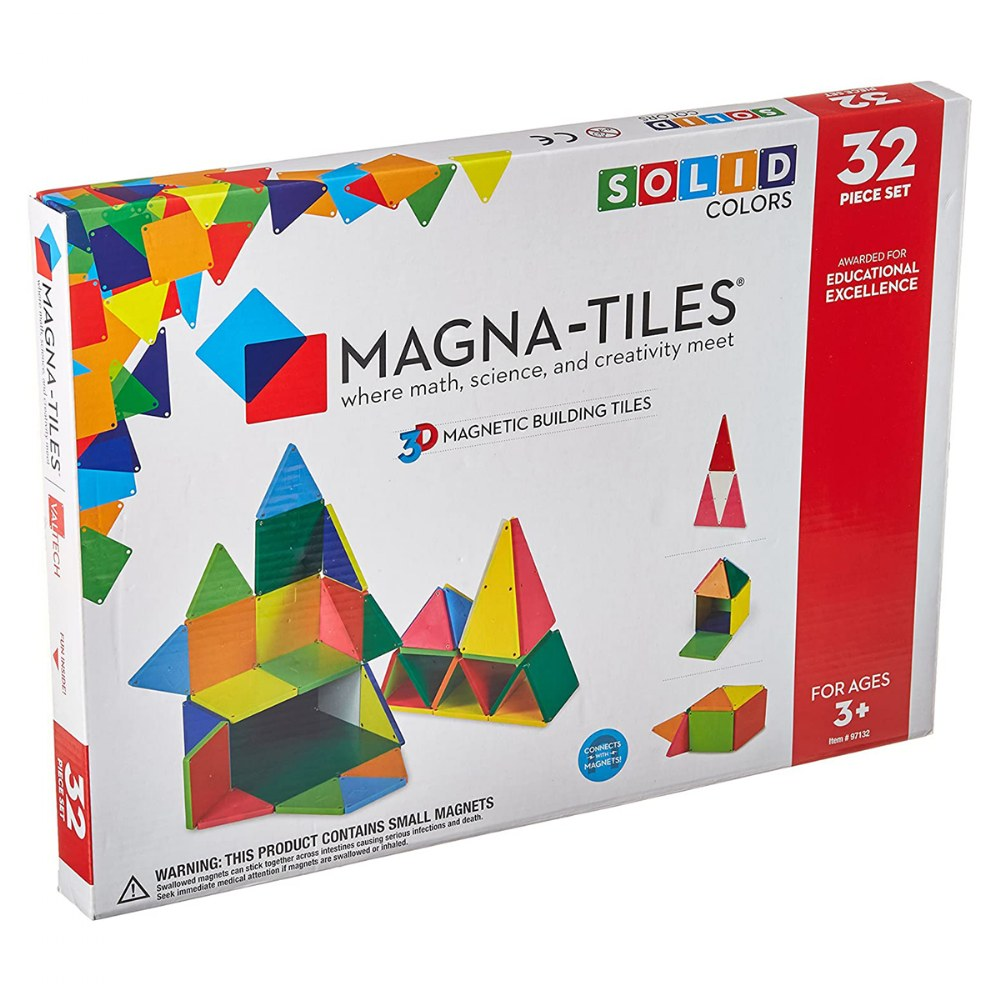 Alternate Image #2 of Magna-Tiles® 32-Piece Colored Magnetic Set