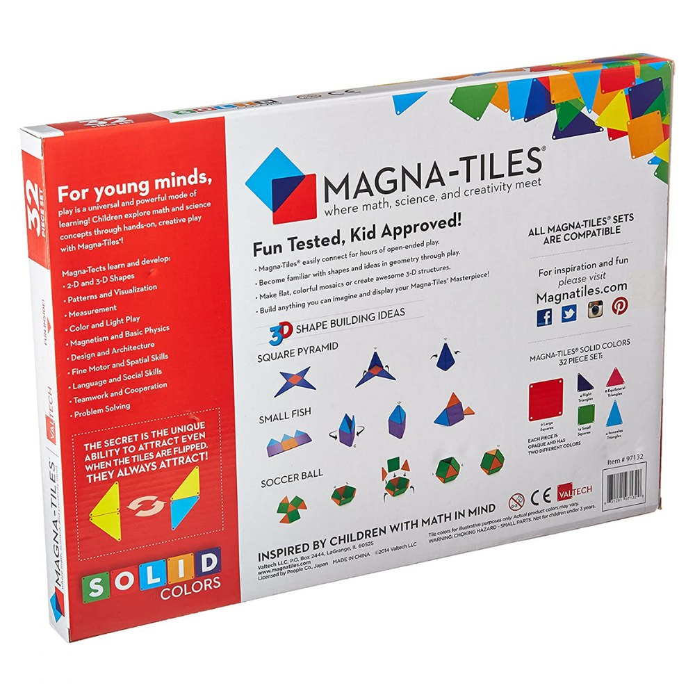 Alternate Image #3 of Magna-Tiles® 32-Piece Colored Magnetic Set