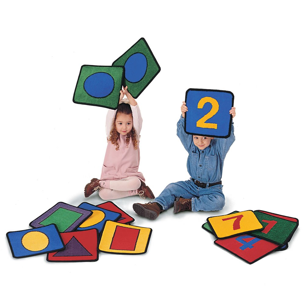 Shape and Number Squares - Set of 20