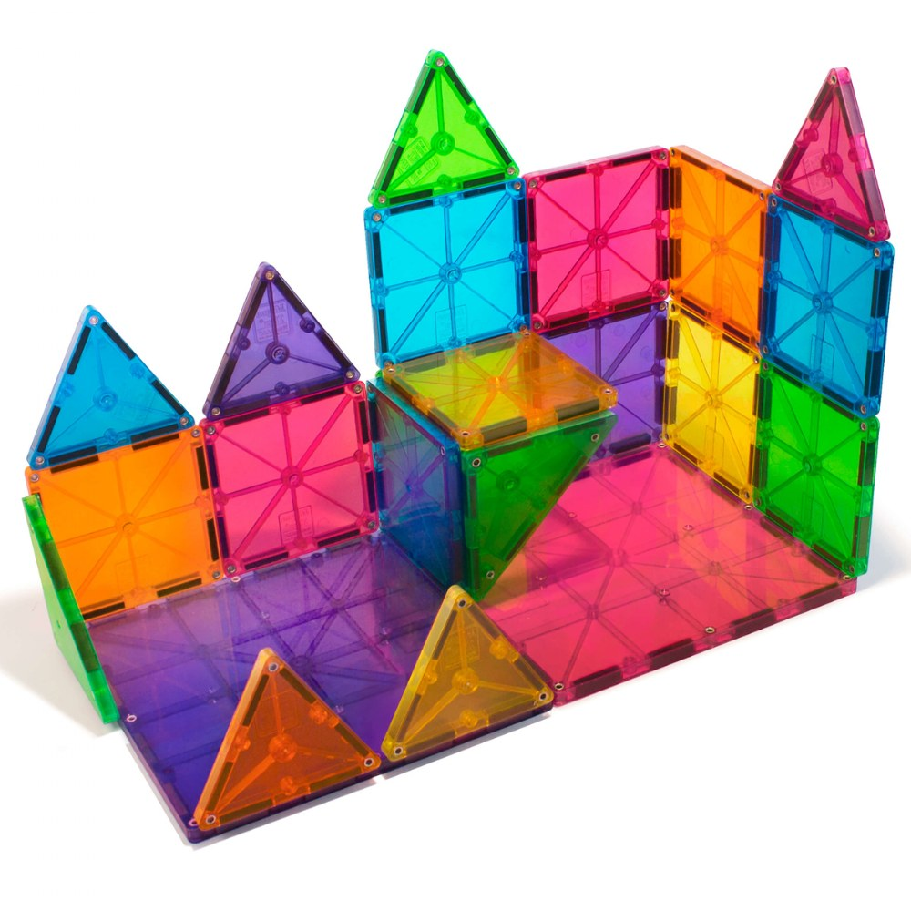 Alternate Image #1 of Magna-Tiles® 32-Piece Clear Colors Set