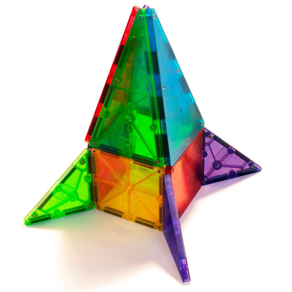 Alternate Image #3 of Magna-Tiles® 32-Piece Clear Colors Set
