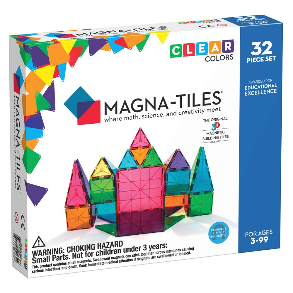 Alternate Image #5 of Magna-Tiles® 32-Piece Clear Colors Set