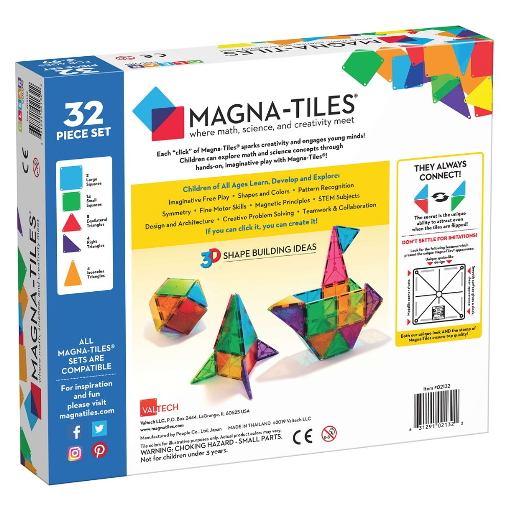 Alternate Image #6 of Magna-Tiles® 32-Piece Clear Colors Set
