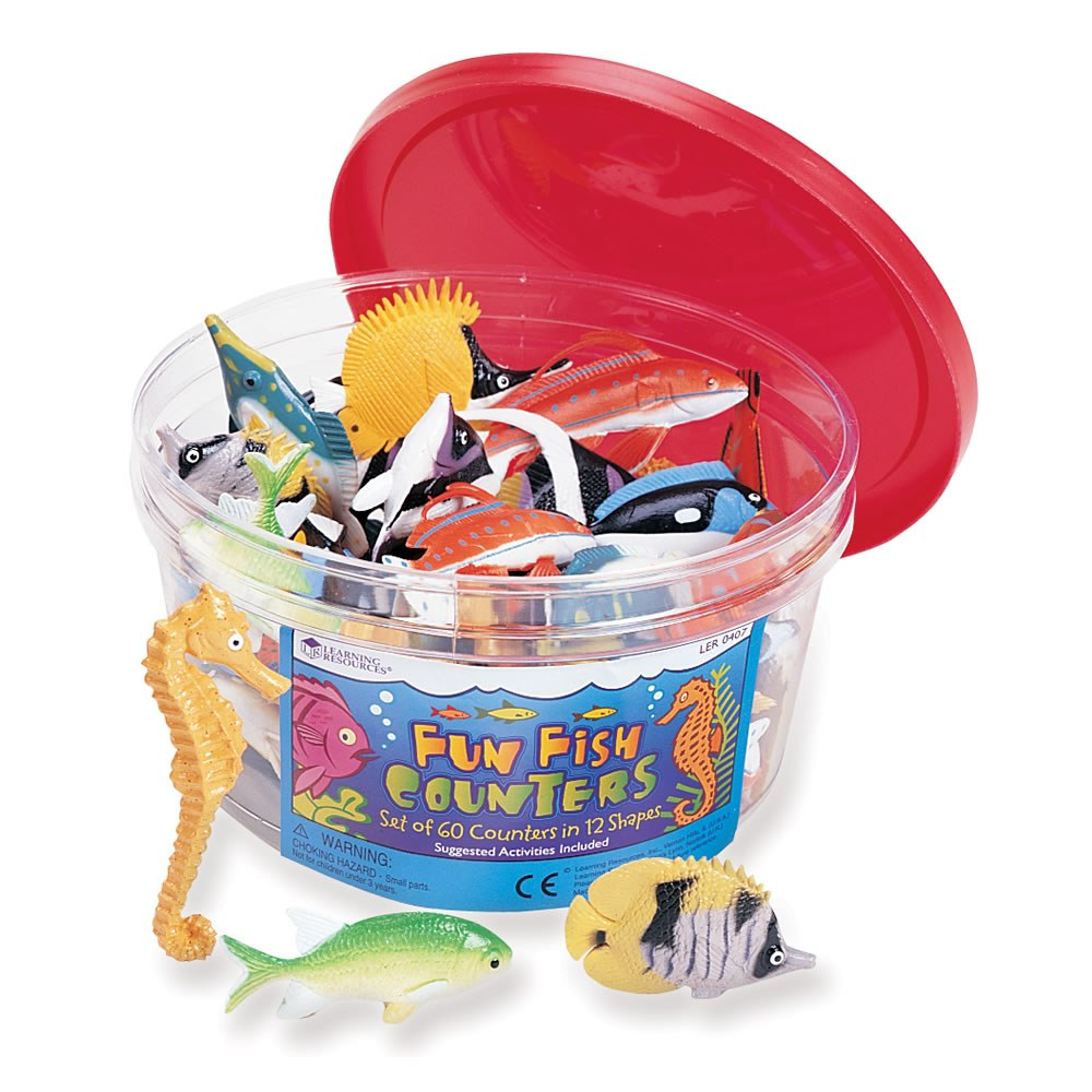 Fish Counters Bucket - Set of 60