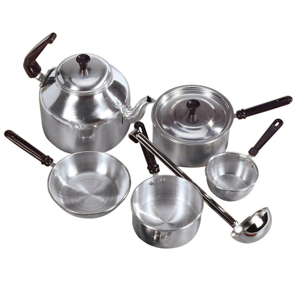 Alternate Image #1 of Aluminum Cooking Set and Utensils