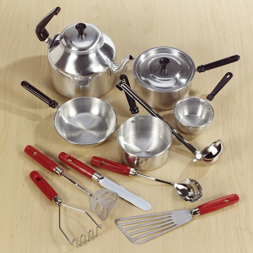 Alternate Image #3 of Aluminum Cooking Set and Utensils