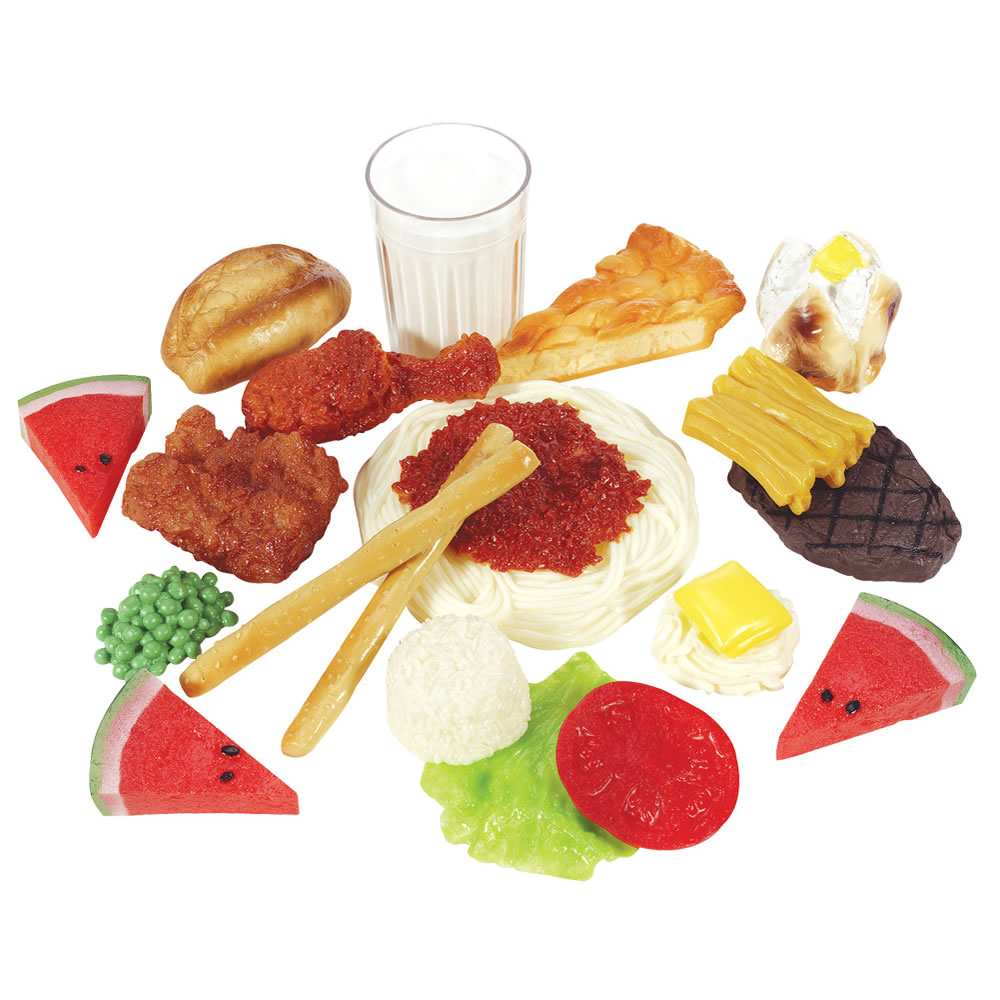 Alternate Image #6 of Life-size Pretend Play Breakfast, Lunch and Dinner Meal Sets