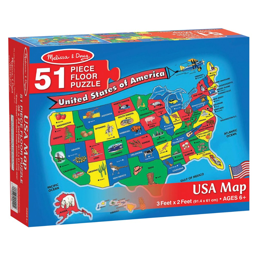 Alternate Image #5 of World & US Floor Puzzles