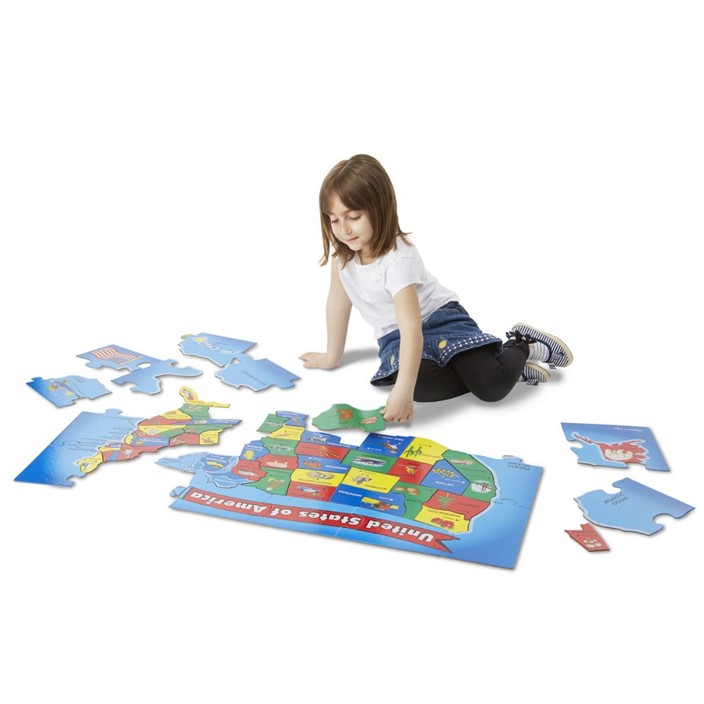 Alternate Image #4 of World & US Floor Puzzles